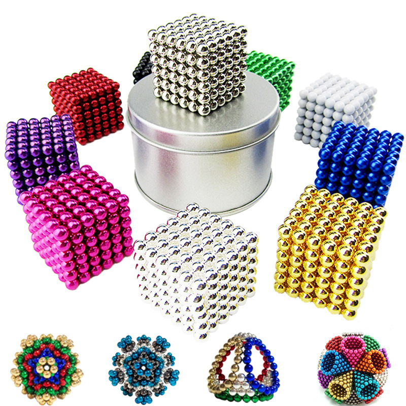 5mm 216pcs/set Magnetic Magic Balls Magnet Balls Puzzle Metal Beads DIY Assemble Educational Kids Adults Toys(China)
