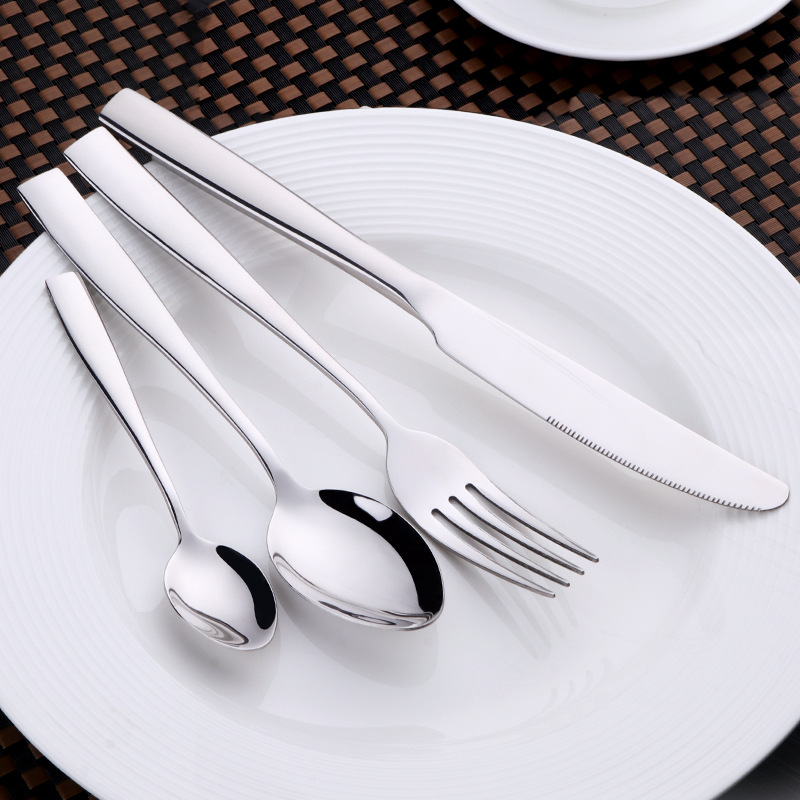 24pcs Stainless Steel Cutlery Set Dinnerware Tableware Silverware Dinner Fork Knife Drop Shipping