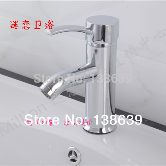Free Shipping 2016 New Single Handle Bathroom Basin Sink Faucet Hot And Cold Water Mix Taps