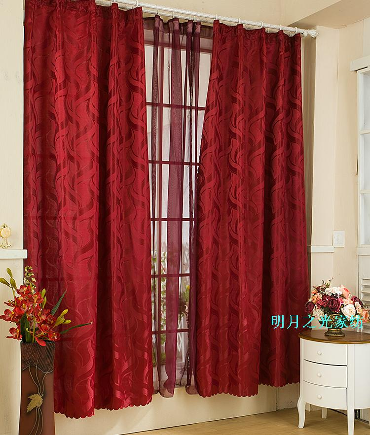 2013 nuevo cortina de producto terminado end of un solo jacquard cortinas rojas para ventana cortinas blackout cortinas persianas en cortinas de casa y - Cortinas Rojas