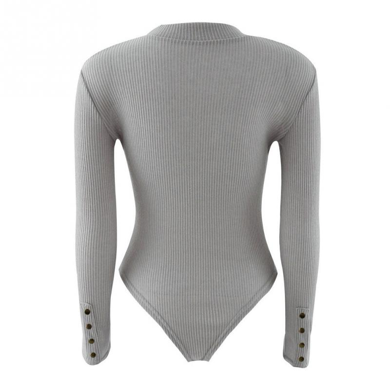 1041ccf6932 Sexy Women Skintight Spring Autumn Long Sleeve Round Neck Knitted ...