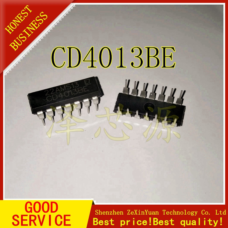 20PCS/LOT CD4013BE DIP14 CD4013B CD4013 DIP NEW
