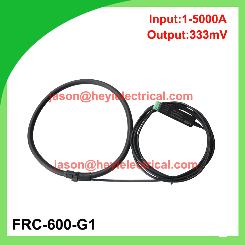 China manufacturer Input 5000A FRC-600-G1 flexible rogowski coil with G1 integrator output 333mV split core CT input 5000a frc 600 flexible rogowski coil with bnc connector output 500mv split core current transformer