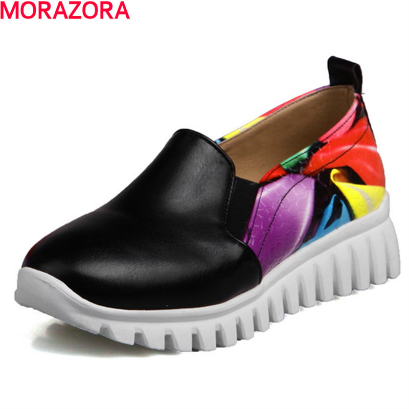 MORAZORA woman hot sale comfortable fashion spring autumn single shoes fashion leisure quality shoes big size 34-46 hot sale spring autumn men comfortable