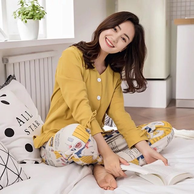 a2b960134a Pregnant Women Pajamas Nursing Dress Maternity Nightgown Soft Cotton  Pregnancy Sleepwear