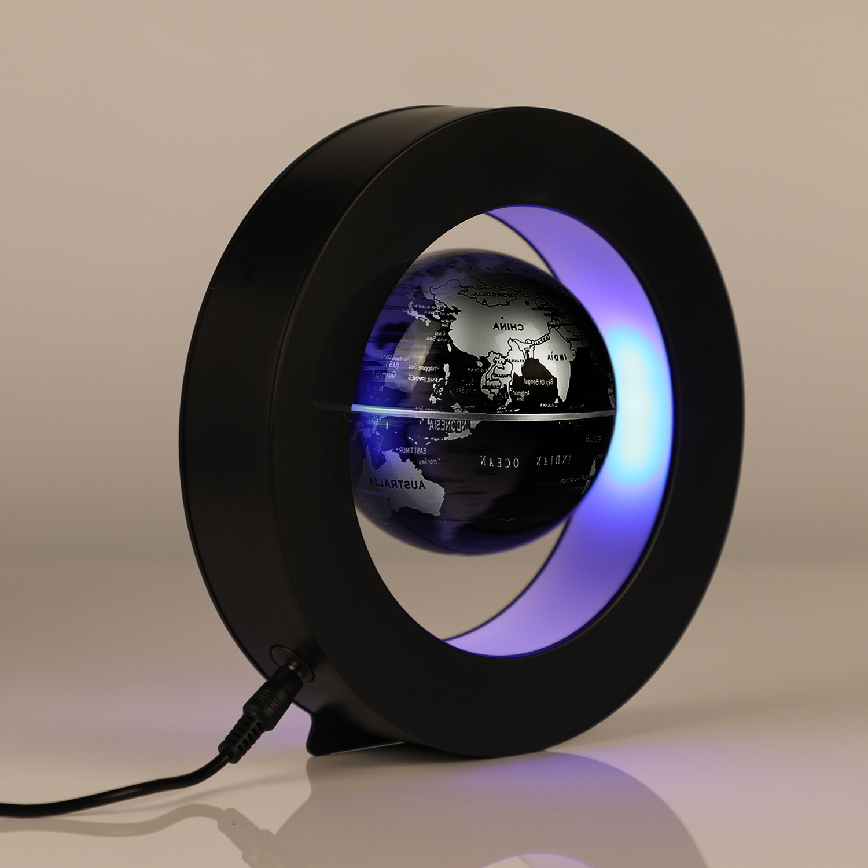 Magnetic Suspension Round Shape World Map Anti gravity Earth Globe LED Lights Home Decor Desk Decorations