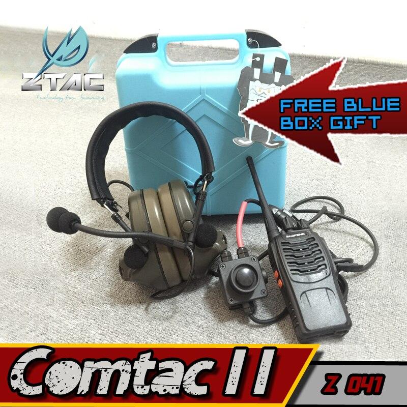 Arsoft наушники элемент Z-Tactical Comtac II наушники для страйкбола Пейнтбол Охота Z-TAC Z134 PTT kenwood с радио набор гарнитуры
