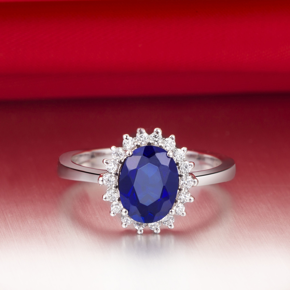 1.5 carat excellent top brand style blue synthetic diamonds