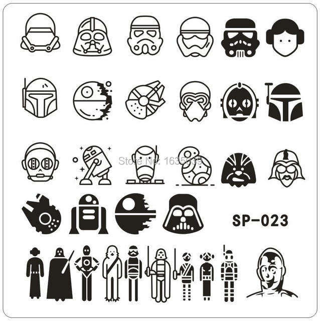 Aliexpress.com : Buy Star Wars Design Nail Art Stamping Image Plates ...