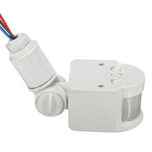 Датчик движения выключатель света Наружный AC 220V Автоматический инфракрасный PIR датчик движения переключатель со светодиодной подсветкой