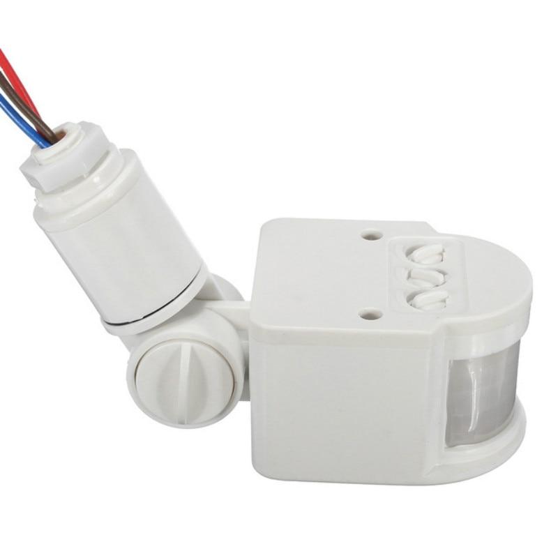 Interruptor de luz de Sensor de movimiento al aire libre AC 220V interruptor automático de Sensor de movimiento PIR infrarrojo con luz LED