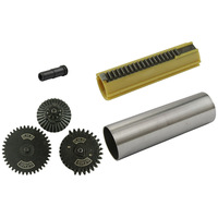 19 Teeth Piston Stainless Steel Cylinder SR25 Gear Set SR25 Nozzle  For SR25 Airsoft AEG Hunting Accessories