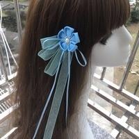 สไตล์ญี่ปุ่นกิ๊บมือทำกิโมโนอุปกรณ์ผมผ้าฝ้ายผ้าดอกไม้t asselsผมคลิปอะนิ