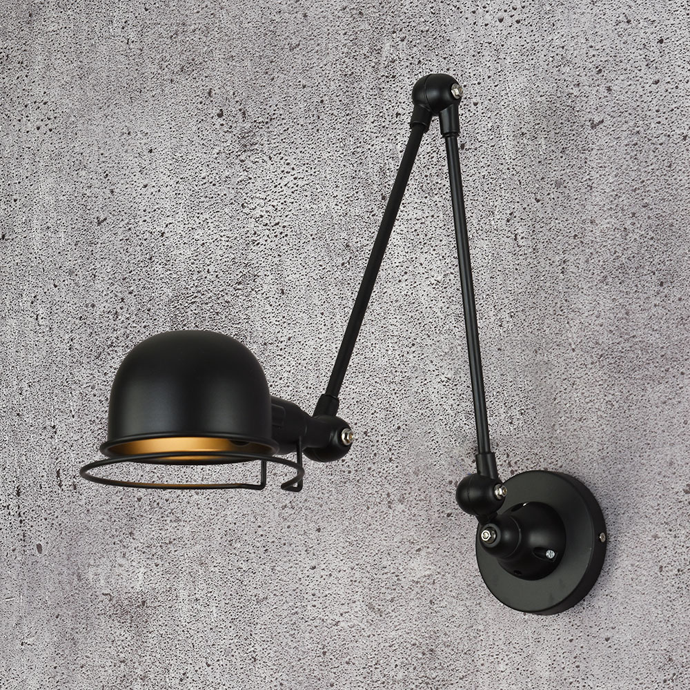 Wall Light e14 Mechanical Arm France Jielde Wall Lamp Reminisce Retractable Double Vintage Folding Rod Without Switch lustre