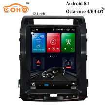 Android 8.1 4+64G 8-Core  12.1 inch gps navigation truck car radio android 1 din for 2007-2015 Toyota Land Cruiser