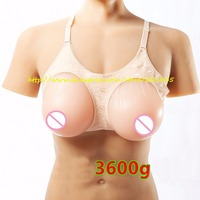 New 1Pair 3600g Huge High Quality Silicone Breast Form Artificial Chest Prosthesis Not Adhesive For Mastectomy