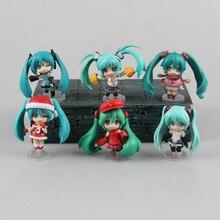 Anime Figure 6 CM 6PCS/SET Hatsune Miku Selection Character Vocal Series 01 PVC Action Figures Toys Model Collectibles