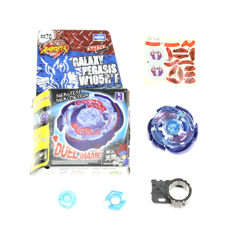 1PCS BEYBLADE METAL FUSION Galaxy Pegasus (Pegasis) W105R2F Metal Fury 4D Legends Beyblade Hyperblade BB70 Without Launcher BB70