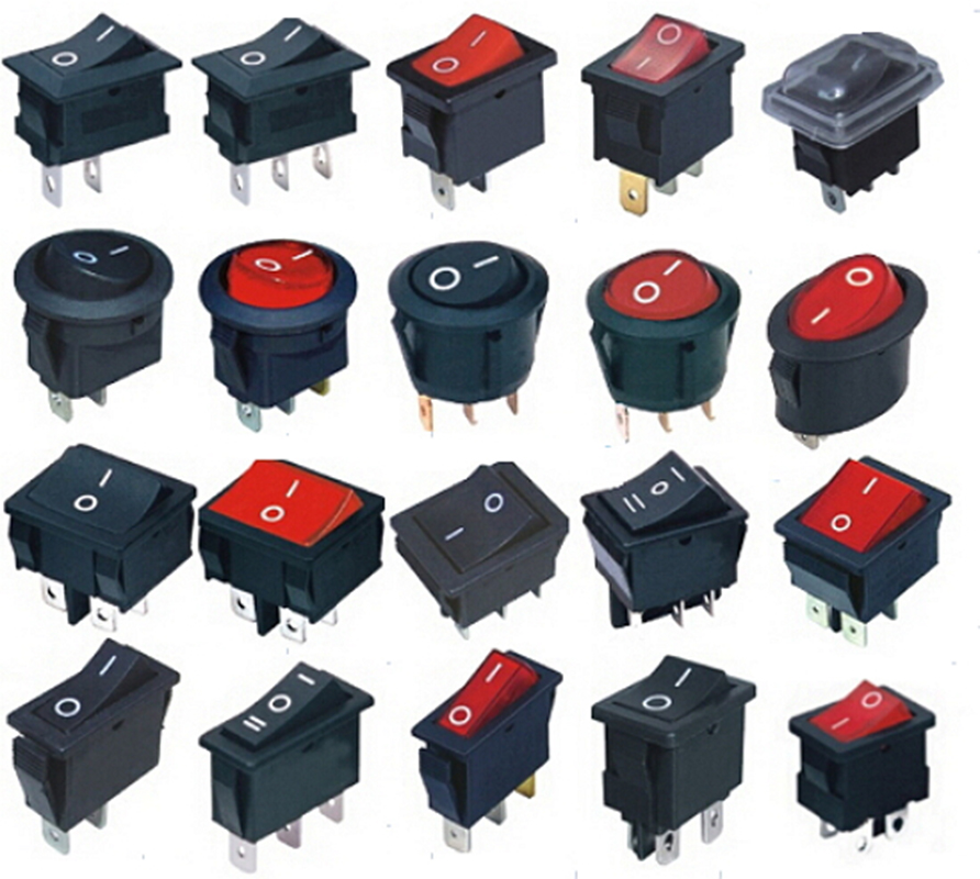 5Pcs Black Snap Boat Button Switch KCD11 2Pin On/Off Rocker Switch KCD3 KCD1 Round Oval Electric Push switch High quality 10pcs ac 250v 3a 2 pin on off i o spst snap in mini boat rocker switch 10 15mm