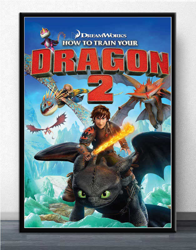 FX057 How to Train Your Dragon The Hidden World 2019 Movie Film Poster Art  Silk Light Canvas Modern Home Room Wall Print Decor
