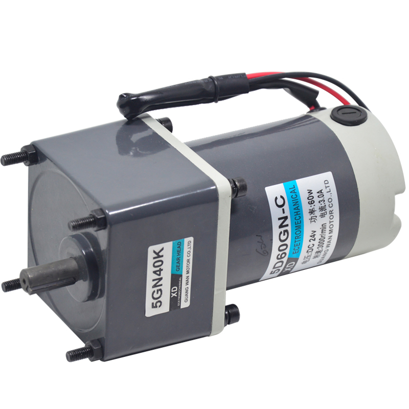 12V 24V DC Motor, Micro Speed Adjustable Motor, 5D60GN-C 60W Slow Speed Motor, Gear Reducer and Low Speed Motor new r775 12v 12000rpm dc micro motor stroller motor model motor speed motor