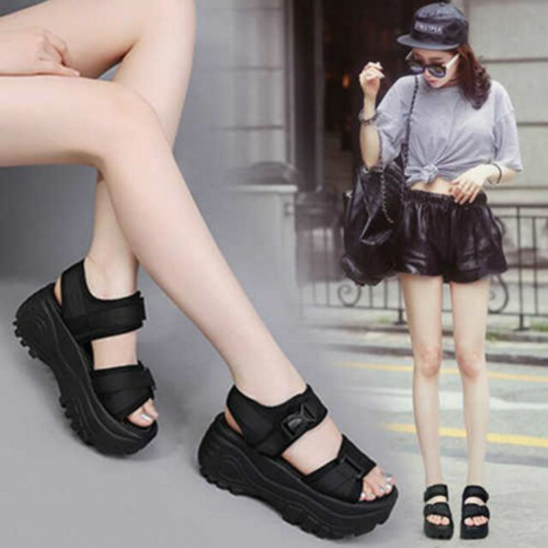 Lightweight soft bottom 2019 thick bottom sandals female Xiapo with platform shoes title=