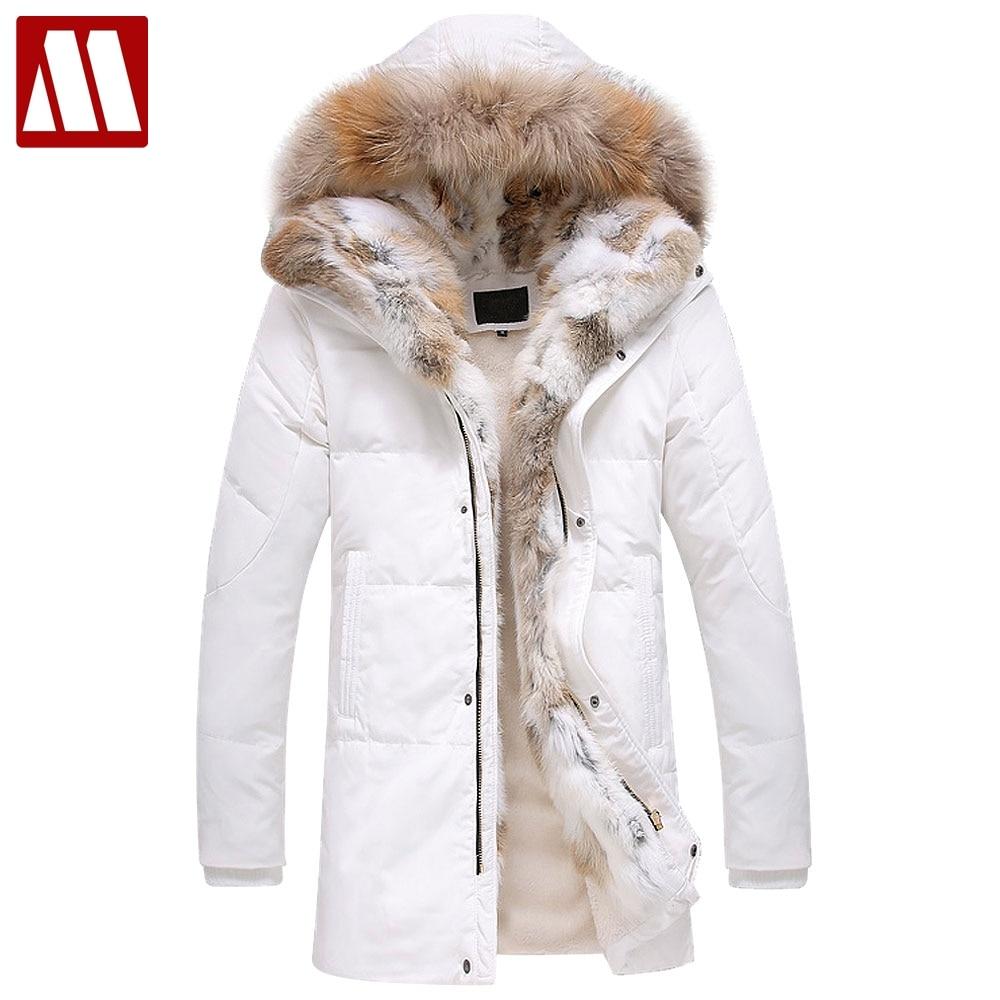 Модная брендовая одежда, зимнее теплое пальто, Мужская био-пуховая куртка с меховым капюшоном, повседневная верхняя одежда, мужская толстая...