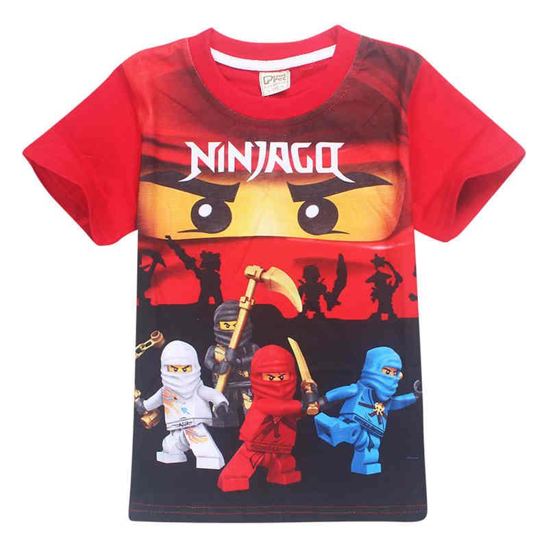 2017 Zomer Kids Jongens T-shirt Ninjago T-shirts Kinderkleding Katoen Top Tees Jongens Meisjes Kids Kostuum Jongens Kleding 3-10y Met De Nieuwste Apparatuur En Technieken
