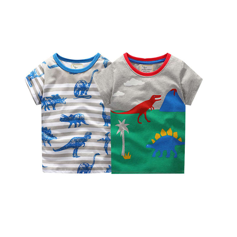 jumping meters Tees sets baby boys children cotton clothing printed animals summer new 2 ...