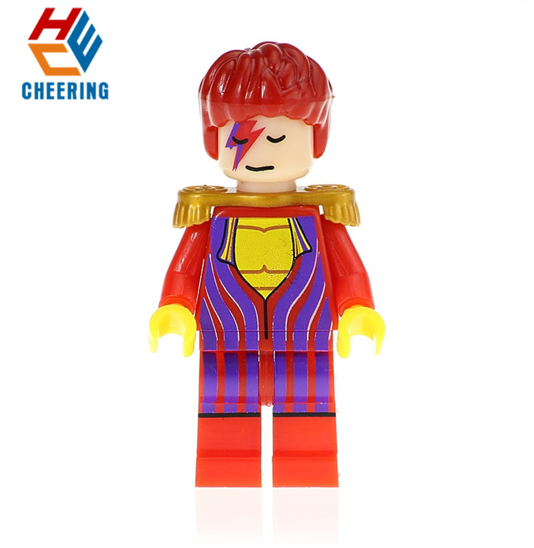 Single Sale Building Blocks Figures David Bowie Ziggy Stardust Captain Canuck Dexter Bricks Collection Toys For Children DA054