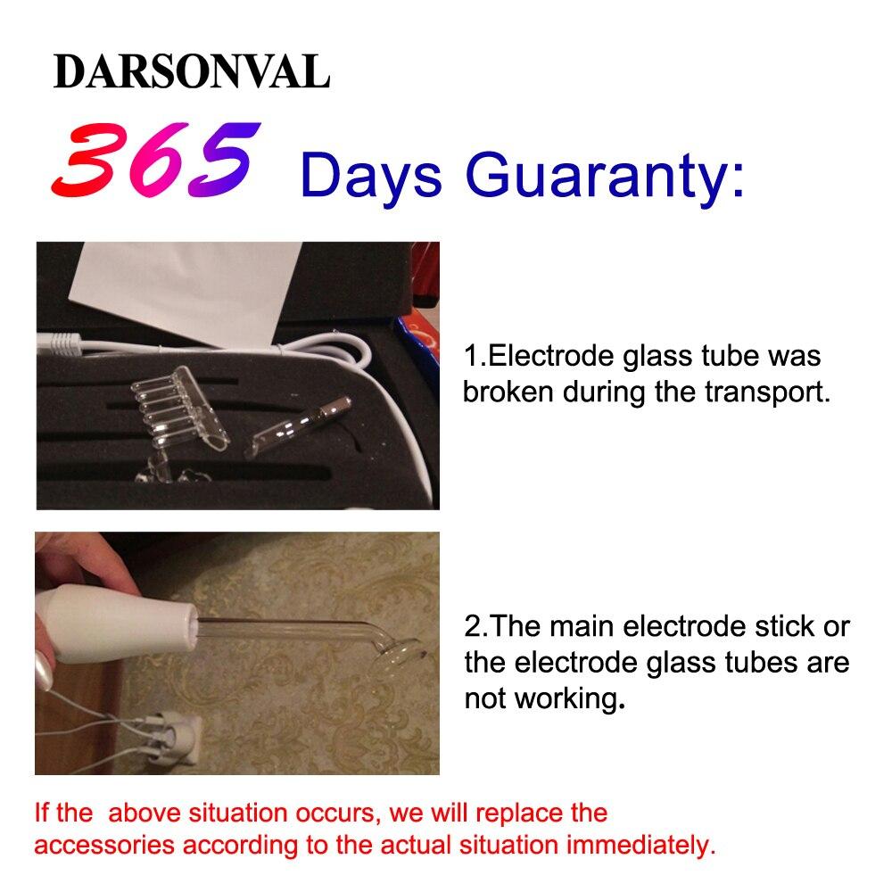 DARSONVAL Électrode Portable Haute Fréquence Spot Acné Remover soins de la peau du visage de Massage Pour Le Visage Beauté Dispositif Spa Salon Accueil - 2