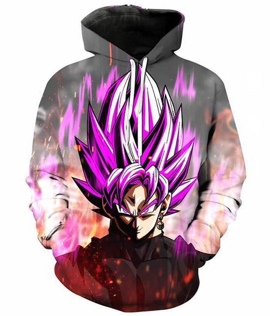 ENLACHIC Boys Girls Anime Dragon Ball Z Naruto 3D Print Hoodies Pullovers Sweatshirts
