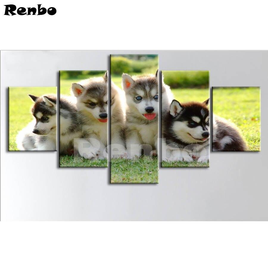 Animals Diamond Embroidery Husky dog Pictures By Rhinestones Diamond Painting Full Square Drill 5D DIY Diamond