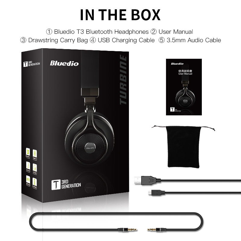 Bluedio T3 Bluetooth bežične slušalice 3D bas slušalice s - Prijenosni audio i video - Foto 6