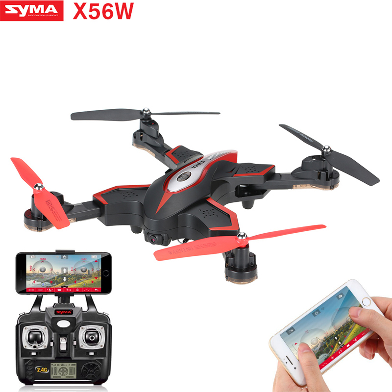 SYMA X56W Foldable RC Drone Wifi Camera FPV RC Quadcopter 2.4G 6-Axis Gyro Altitude Hold Remote Control RC Helicopter Dron jmt cg030 foldable 0 3mp camera drone wifi fpv 6 axis gyro altitude hold headless rc quadcopter mini drone app control rc dron