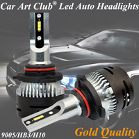 Car Art Club 9005 HB3 H10 Cre e ZES chip LED Car Headlight Bulbs white color light led bulbs Super Bright 9005 HB3 for car