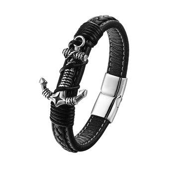 Bracelet Cuir Homme Avec Ancre