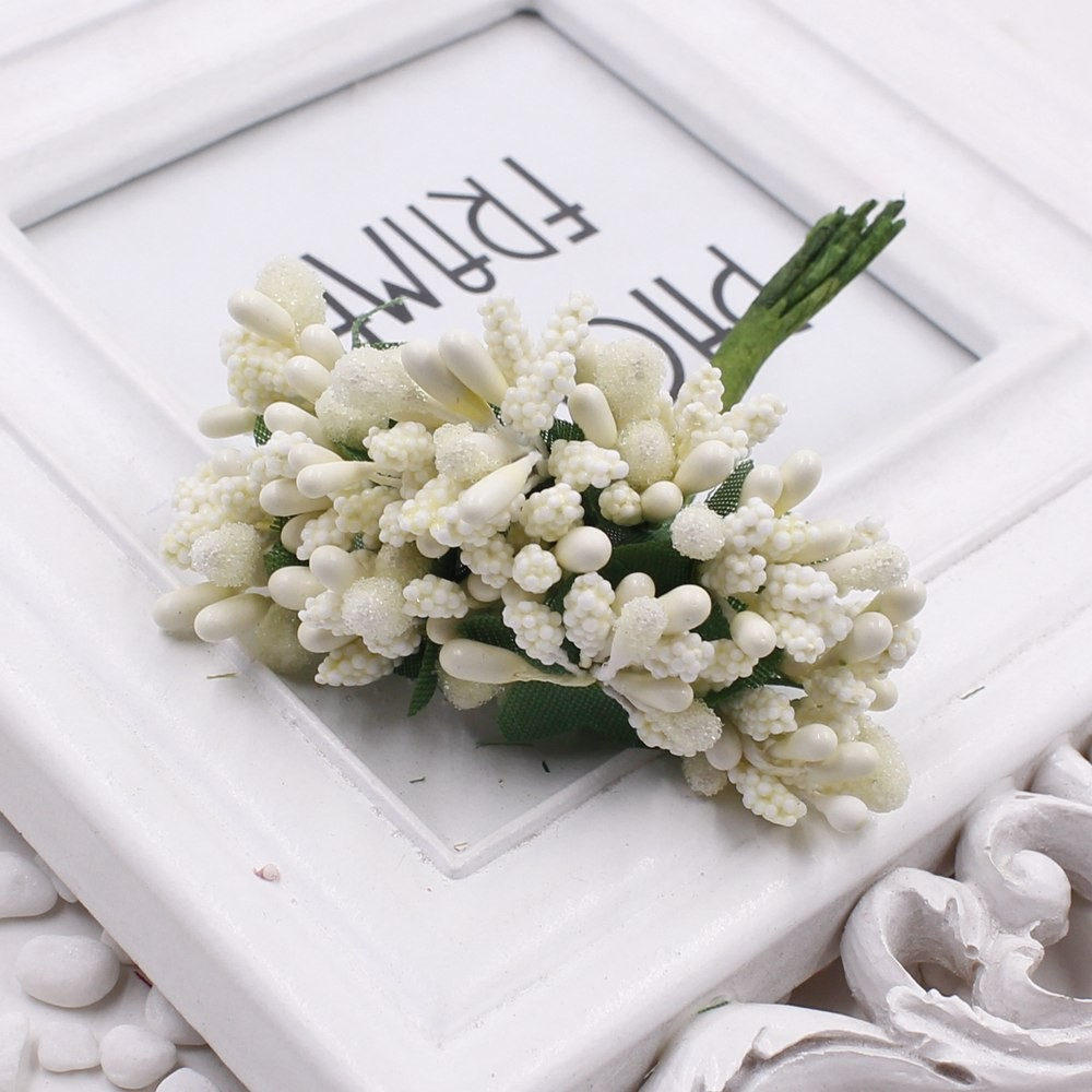 16 12pcs Berry Artificial Stamen Handmade Flower For Wedding Home Decoration Pistil DIY Scrapbooking Garland Craft Fake Flower 12