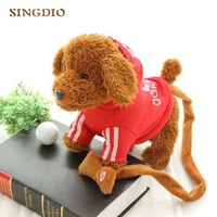 Children electric Plush toys dog Leash walk Teddy dog music Mechanical dog Simulation dogs electronic House pet Exquisite gift