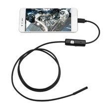Camera Nội Soi 5.5Mm Camera HD USB Camera Nội Soi 6 LED 1.5/M Dây Cáp Mềm Chống Thấm Nước Kiểm Tra Borescope Cho Android máy Tính
