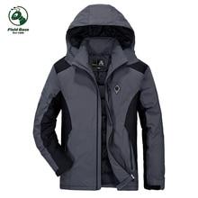 FIELDBASE down coat jacket men hoodies windbreaker winter warm coats Mens Causal hoody Jackets Parka waterproof