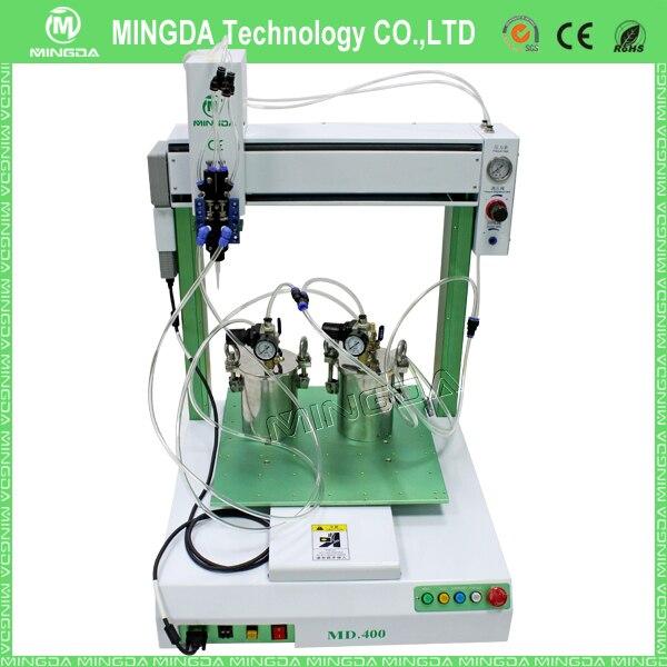 Fabricant professionnel! Machine de distribution de bras de Robot de pâte à souder/machine de distribution de colle chaude à deux composants 400*400*100mm