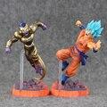 2 Estilo 15 cm Dragon Ball Z Resurrección F Golden Freezer freezer congelador VS Goku Figura de Acción de Modelo juguetes de PVC Muñeca colectiva