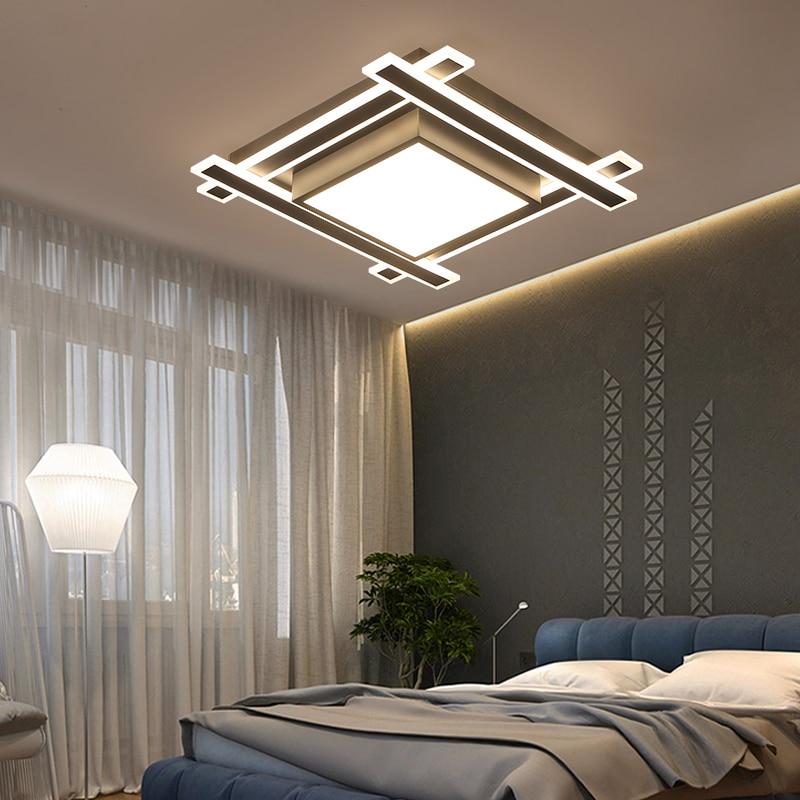 Modern Acrylic led ceiling lights For living room Dining room Study Room Bedroom lampara techo led Square Ceiling lamp 110V 220V все цены