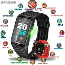 BANGWEI Sport Bracelet Men Waterproof Fitness Wristband Blood Pressure Heart Rate Monitor Pedometer Smart Watch For Andrdid ios