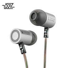 KZ ED4 באוזן אוזניות מתכת כבד בס סטנדרטי רעש בידוד רעיוני קו 3.5mm סטריאו HIFI אוזניות עם מיקרופון אוזניות