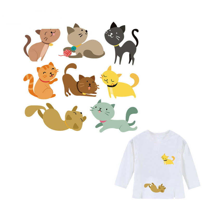 Cat Patches Lovely Cartoon Iron Transfer Unicorn Are Real Heat Kids Clothes Accessories For Jeans T-shirt