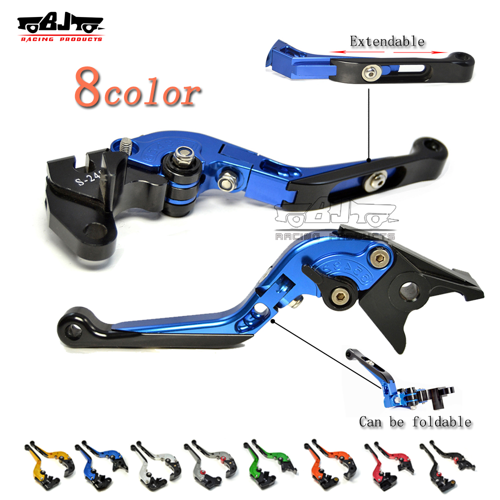 Bjmoto motorcycle CNC Folding Extendable Clutch Brake Levers Set For Triumph Daytona 955i 600 Speed Master 675 Street Triple adjustable billet extendable folding brake clutch levers for triumph daytona 675 r 2011 2015 speed triple 1050 r 12 15 2013 2014