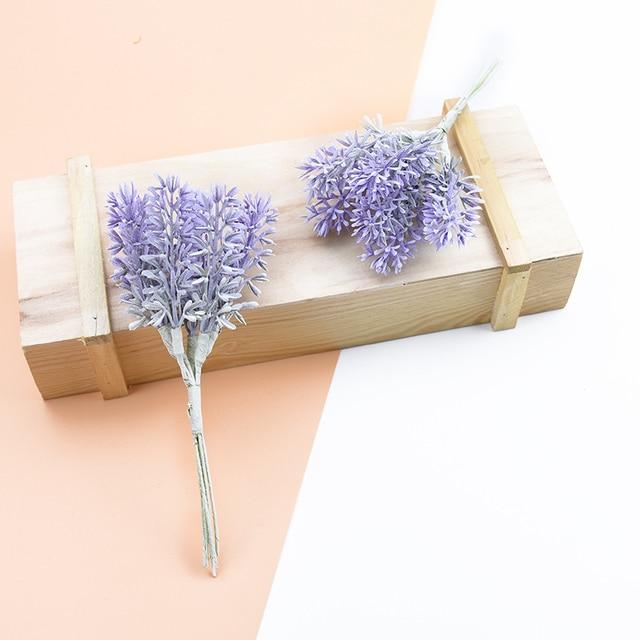 6 Artificial Decorative Lavender Plants