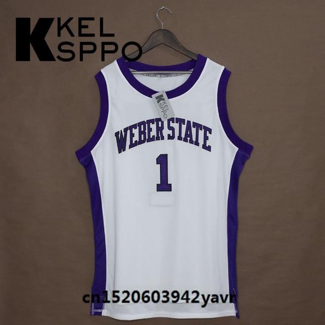 3acd349dbdf ... wholesale custom adult throwback basketball jerseys 1 damian lillard  weber state embroidered basketball jersey size xxs